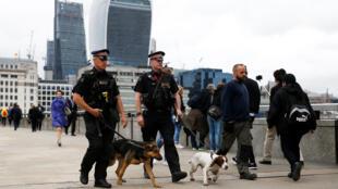 Полицейский патруль в Лондоне, 5 июня 2017.