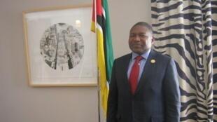 O  Presidente  de Moçambique Filipe Nyusi