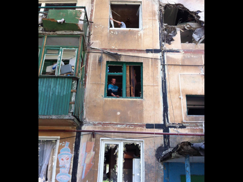 Comme à Makiïvka, l'est de l'Ukraine est en ruines.