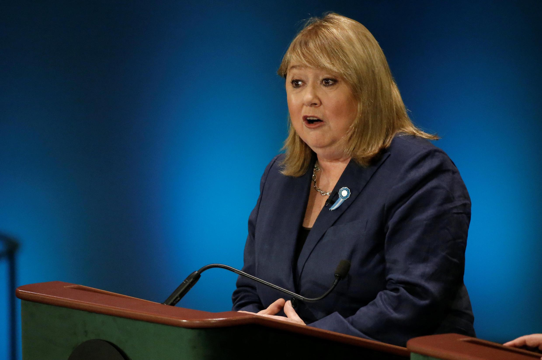 La ministre des Affaires étrangères d'Argentine, Susana Malcorra, lors d'un débat à l'Assemblée générale des Nations unies entre les différents candidats à la succession de Ban Ki-moon.