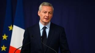 Ministan Kudin kasar Faransa  Bruno Le Maire.