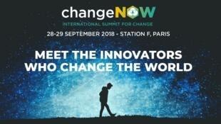 ChangeNOW, sommet international pour le changement, les 28 et 29 septembre à Paris.
