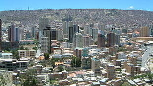 Le centre de La Paz, en Bolivie.