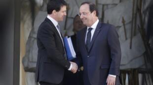 O Primeiro-ministro Manuel Valls apresenta nova equipe ministerial francesa.