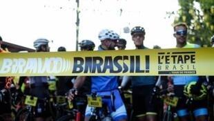 Largada da L'étape Brasil do Tour de France 2019 em Campos do Jordão (SP).