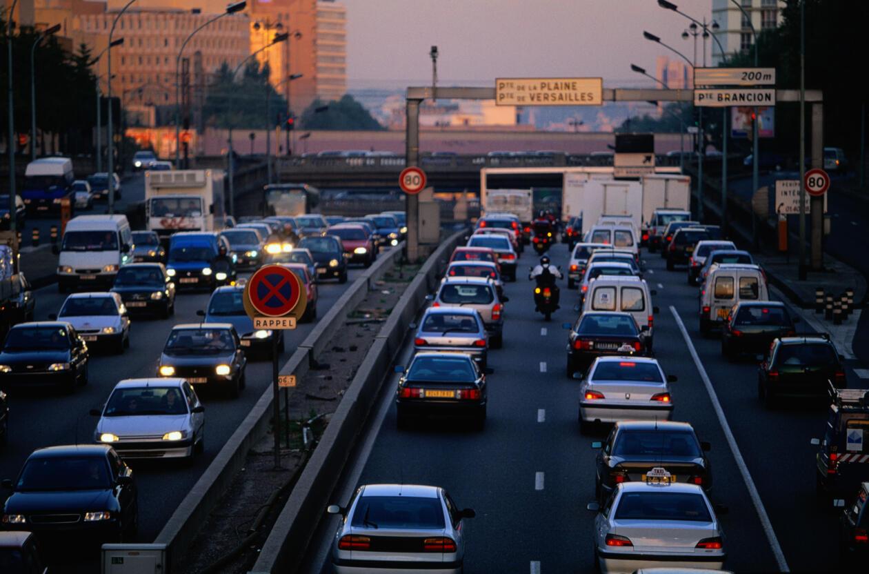 Des embouteillages sur le périphérique parisien.