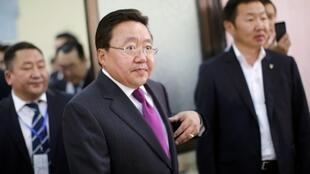 Mongolia's President and presidential candidate for re-election Tsakhia Elbegdorj