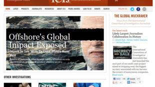 Capture d'écran du site ICIJ.