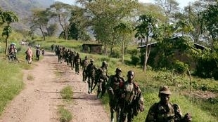 Wanajeshi wa Uganda wakiwa mpakani mwa DRC wakiwasaka waasi wa ADF  2007.
