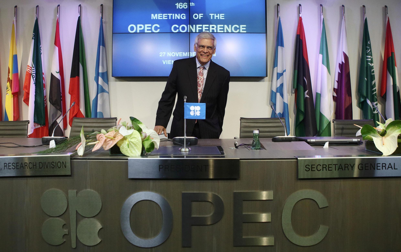 El secretario general de la OPEP, Abdalla Salem el-Badri.