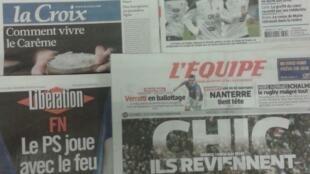 Diários franceses do dia 5 de Março de 2014