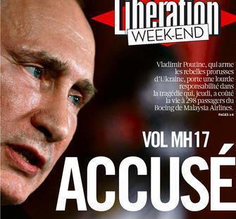 Capa do jornal Libération deste sábado, dia 19 de julho.