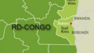Bukavu, capitale du Sud-Kivu, en République démocratique du Congo.
