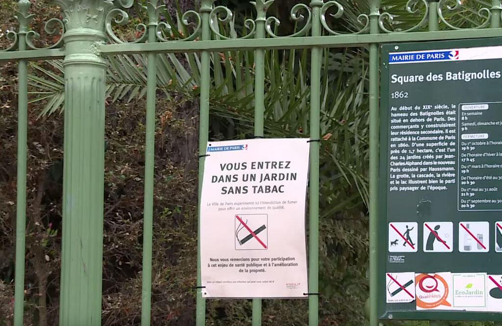 A partir de 8 de junho, quem for surpreendido fumando em um dos 52 parques e jardins parisienses, terá que pagar uma multa