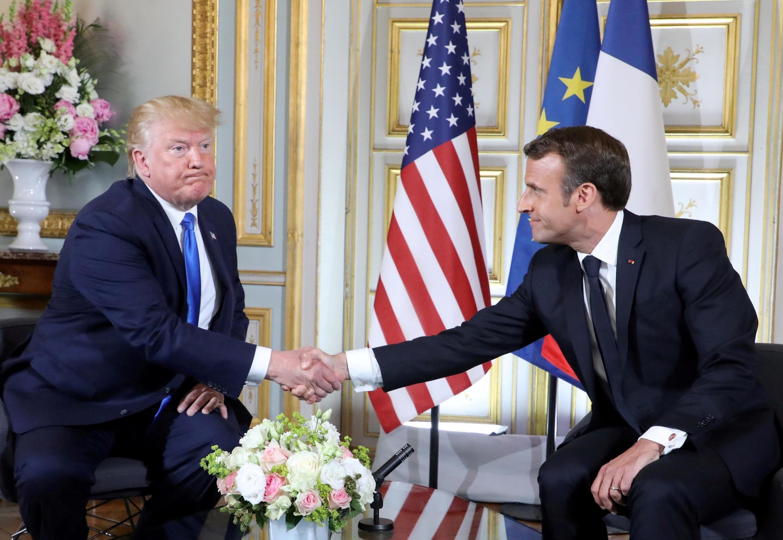 Переговоры Эмманюэля Макрона и Дональда Трампа в городе Кане 6 июня 2019