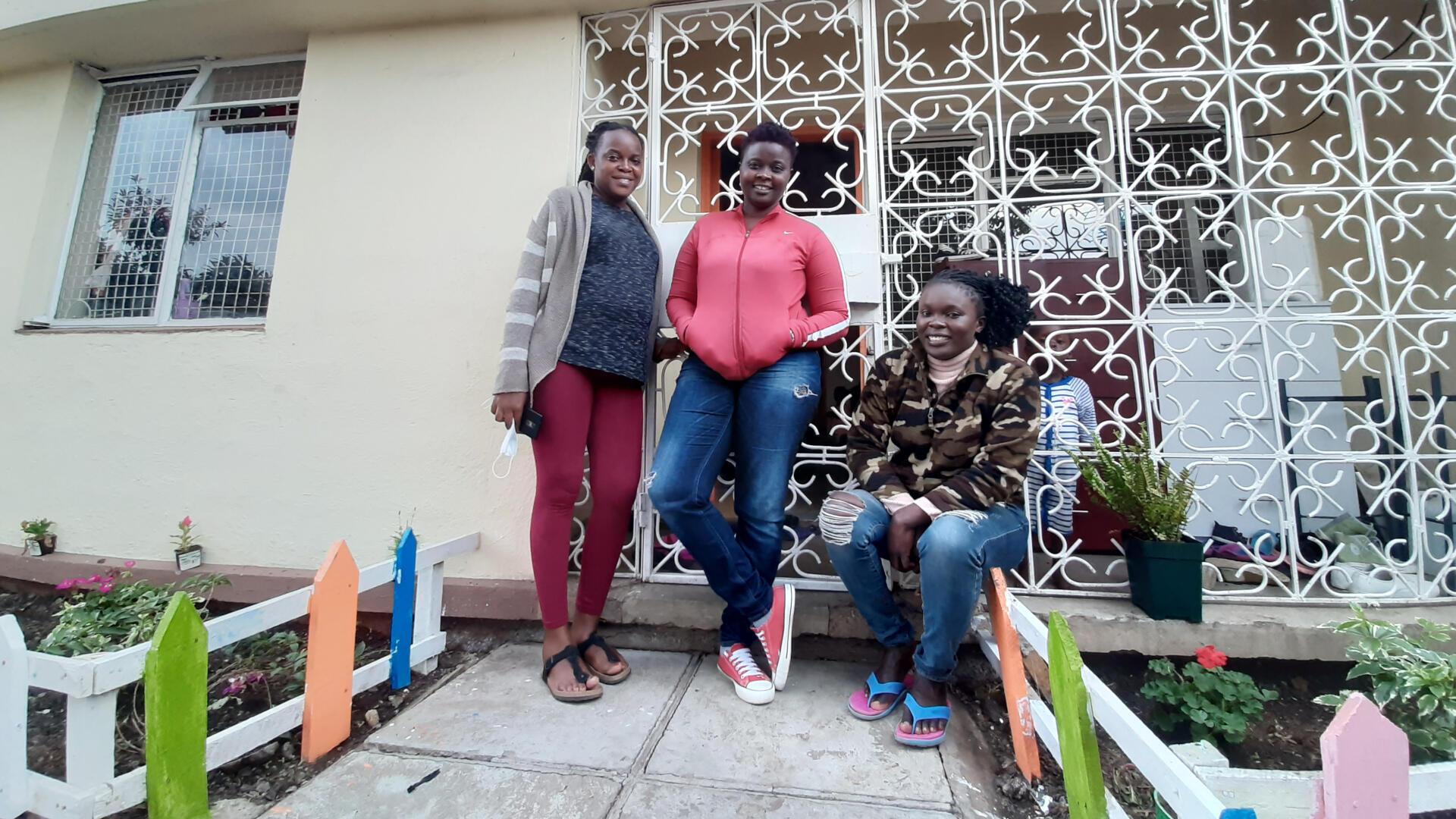 L'équipe de Maisha Girls Safe House.