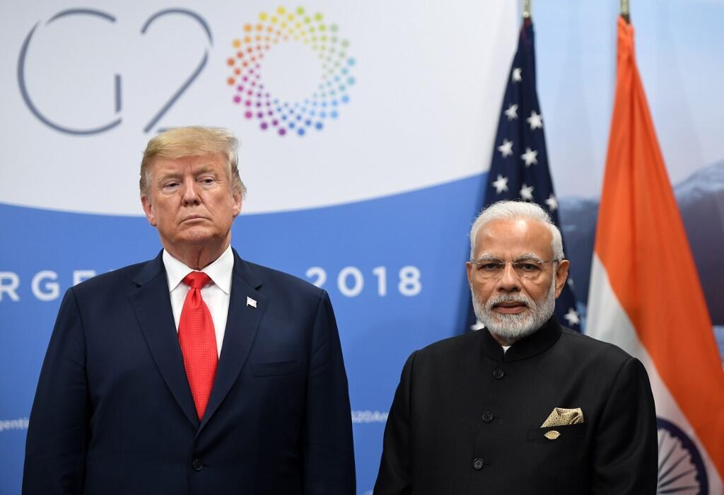TT Mỹ Donald Trump và thủ tướng Ấn Độ Narendra Modi tại thượng đỉnh G20 diễn ra ở Buenos Aires ngày 30/11/2018.