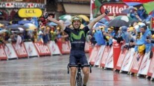 El ciclista español de la formación Movistar, Ion Izaguirre, ganó en morzine el 23 de julio de 2016.