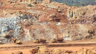 Le site de la mine d'Ambatovy à Madagascar.