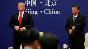 Rais Trump na mwenzake wa China Xi Jinping, Novemba 9, 2017 Beijing.