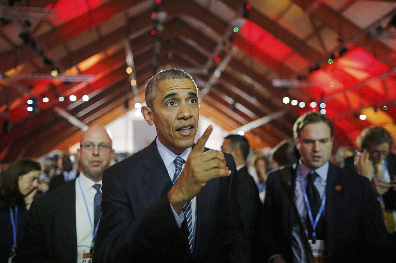 Барак Обама на Всемирной конференции по климату в Ле Бурже 1 декабря 2015