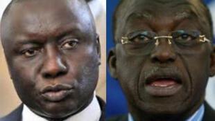 Idrissa Seck (G) et Moustapha Niasse (D), deux anciens Premiers ministres du Sénégal.