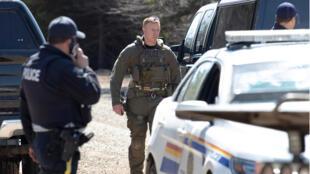 Portapique, província da Nova Escócia onde um homem armado matou pelo menos 16 pessoas no sábado 18/04/2020.