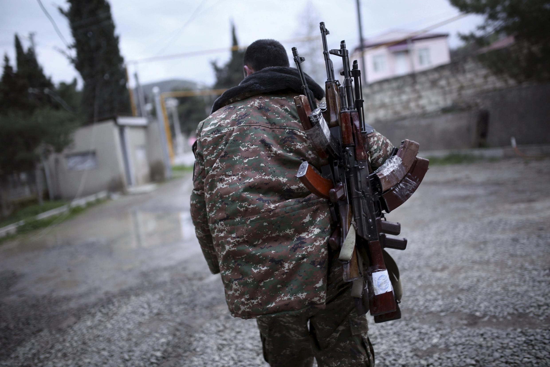 Un soldat des forces arméniennes du Nagorno-Karabakh, le 4 avril 2016 (photo d'illustration).