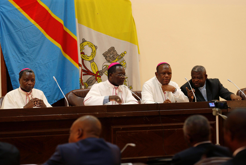Les évêques de la Cenco à Kinshasa, le 21 décembre 2016.