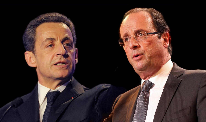 Nicolas Sarkozy da François Hollande wadanda zasu fafata a zagaye na biyu na zaben Faransa na shekarar 2012