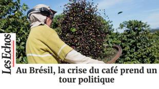 Jornal francês Les Echos destaca a crise do café no Brasil.