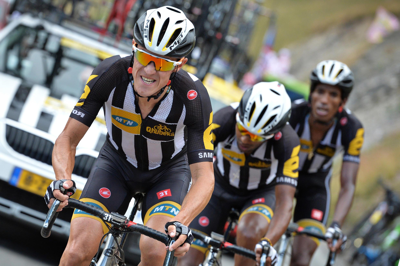 Serge Pauwels de l'équipe MTN-Qhubeka sur la 19ème étape du Tour de France 2015.
