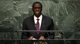 Le président burkinabè de transition Michel Kafando s'est exprimé à l'Assemblée Générale de l'ONU, le 02 octobre 2015.