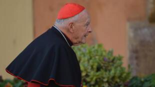 El cardenal Theodore McCarrick llega al último cónclave para la elección de un nuevo papa, el 4 de marzo de 2013 en el Vaticano