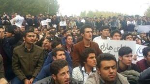 اجتماع اعتراضی مردم در تبریز