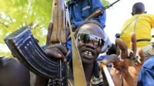 Un soldat sud-soudanais à Bor.