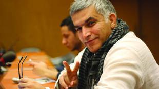 Nabeel Rajab, président du Centre bahreïnien des droits de l'homme, condamné pour avoir demandé la fin de la guerre au Yémen dans un tweet et dénoncé les conditions d'incarcération.