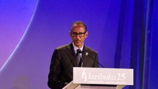 Le président rwandais Paul Kagame a, tout au long de son discours, vanté la force de son peuple.