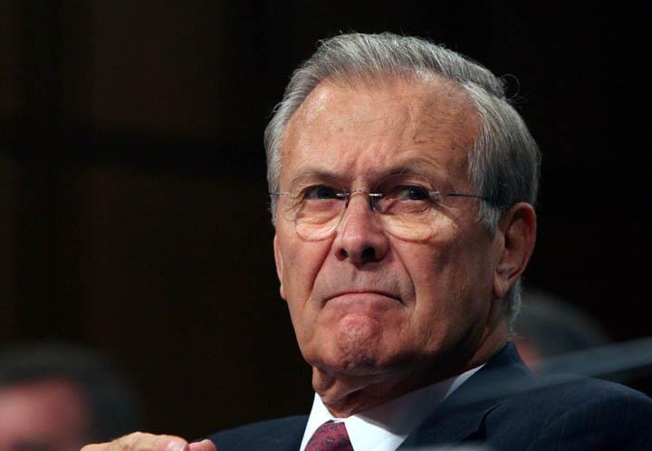 Donald Rumsfeld, antigo secretário norte-americano da Defesa faleceu a 30 de Junho de 2021 com 88 anos .
