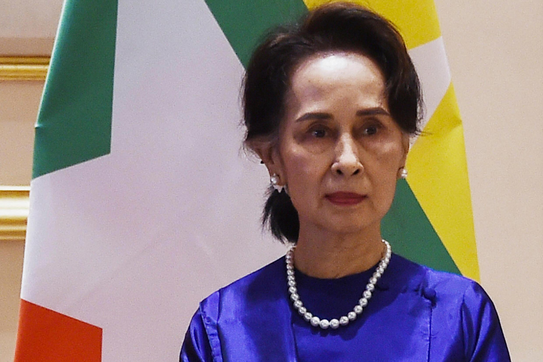 Aung San Suu Kyi en una foto de archivo el 17 de enero de 2020 en Naipyidó (Birmania)