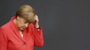 Angela Merkel, la chancelière allemande au Bundestag, le 17 juillet 2015.