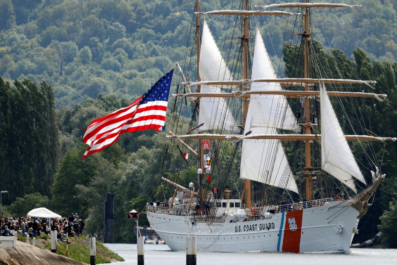 El Eagle, de Estados Unidos, un guardacostas que también participó en esta Armada 2019.