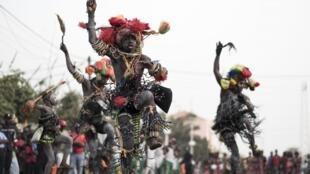 Défilé du carnaval à Bissau, en Guinée-Bissau, en février 2018.
