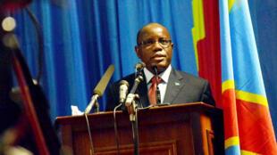 spika wa bunge la taifa la nchini DRC Aubin Minaku, Wakati akifungua vikao vya bunge Kinshasa september 2017