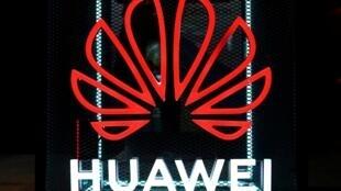 Logo Hoa Vi (Huawei) tại hội chợ triển lãm công nghệ tiêu dùng Berlin, Đức, ngày 05/09/2019