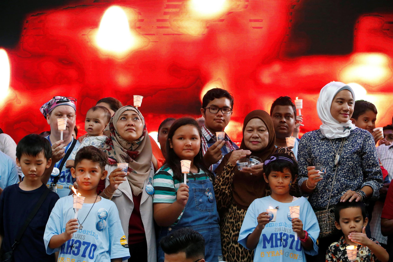 Ngày 08/03/2019, gia đình các nạn nhân tưởng nhớ người thân trong vụ máy bay MH370 biến mất một cách bí ẩn, Kuala Lumpur, ngày 08/03/2019.