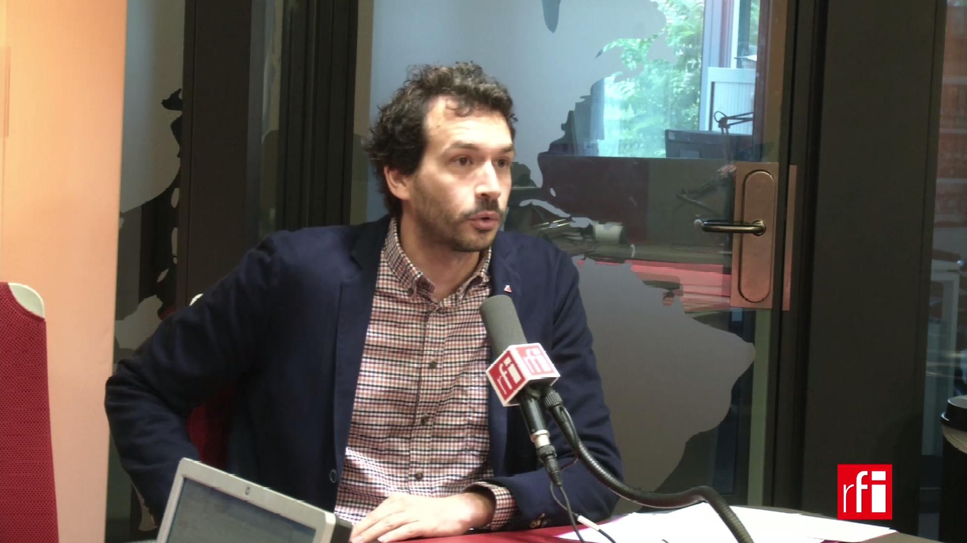 Bastien Lachaud sur RFI le 28 juillet 2017.