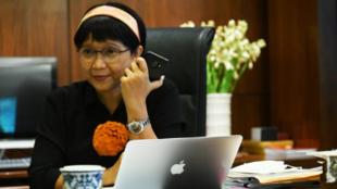 印度尼西亚外交部长雷特诺资料图片
