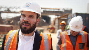 Israeli businessman Dan Gertler during a visit to a mining site run by Katanga Mining Ltd in 2012.
