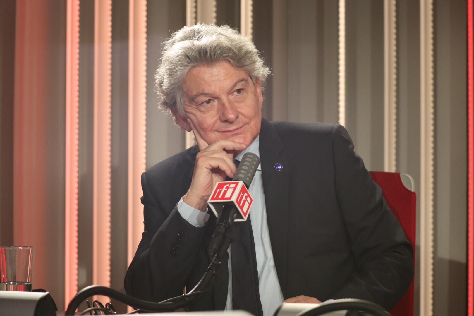 Thierry Breton, grand invité de Carrefour de l'Europe, le 21 juin 2020 dans les studios de RFI.